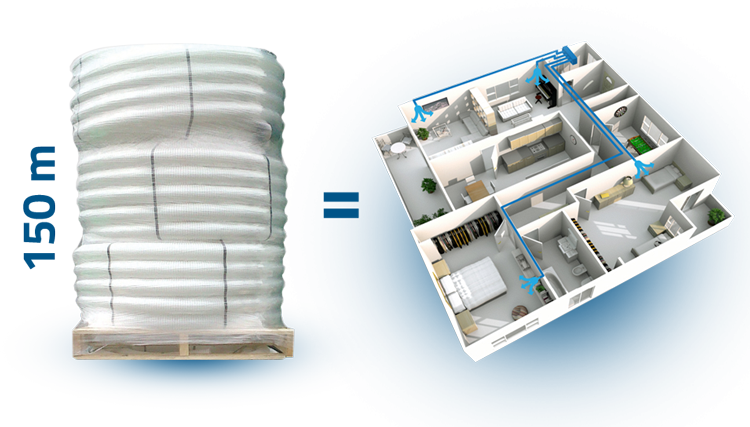 Ventilation air ducts for MVHR Systems by FITT Air